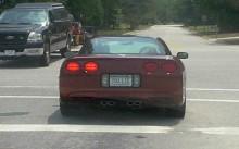 Odd SC license plate